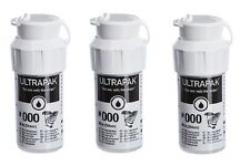 3x Ultrapak Dental Retraction Knitted Cord 244cm 99in Bottle Size #000 Ultradent