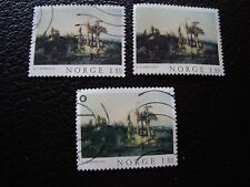 NORVEGE - timbre yvert et tellier n° 710 x3 obl (A30) stamp norway (A)