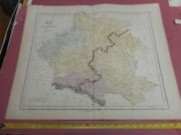 100% ORIGINAL LARGE POLAND  MAP BY GALL INGLIS C1856 VGC HAND COLOURED