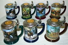 7 Franklin Mint Collector Tankard Stein by Ted Blaylock Eagle Rick Fields Deer