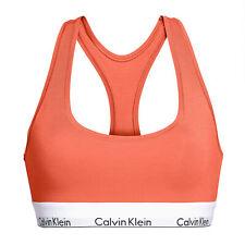Calvin Klein Unlined Modern Cotton Womens Underwear Bra - Grapefruit All Sizes