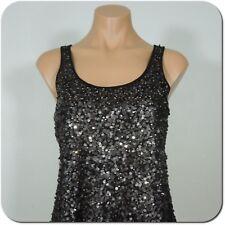 EXPRESS Women's Black Sequin Tank Top, size XS