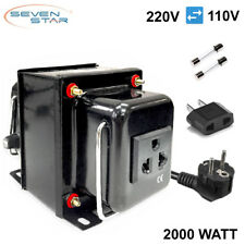 SevenStar Thg-2000 Ud Watt 220V/110V Step Up/Down Voltage Converter Transformer