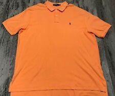 POLO RALPH LAUREN Orange Small Pony Cotton Golf Polo Button Down Shirt XXL