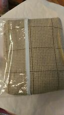 Waverly Tailored BedSkirt Wrap Dust Taupe Olive Brown Plaid Tan  Linen Queen