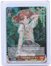 Weib Weiss Schwarz Toaru Majutsu no Index RAILGUN Shirai Kuroko Signed TCG card