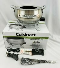 New Cuisinart Electric Fondue Set 3 Quart CFO-3SS Non Stick 1000W Dishwasher