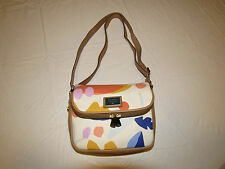 Fossil ZB6556991 Preston Small Flap Light Floral canvas Leather purse NWT^^