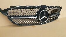 DIAMOND GRILLE GRILL FOR MERCEDES W205 C CLASS AMG C200 C220 C250 C300 C350