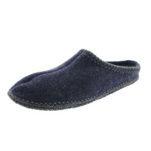 Haflinger Womens Navy Wool Casual Slide Slippers 38 Medium (B,M) BHFO 1678