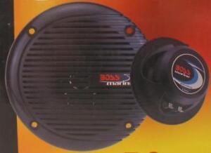 "Boss Marine Stereo 5.25"" Speakers Black Pair 2532"