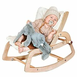 3-in-1 Infant-to-Toddler Bouncer,Convertible Rocker,Wooden Baby Chair with