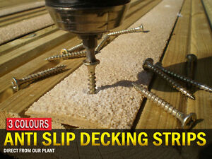 Anti Slip Surfacing for Timber Decking - 100mm WIDE for maximum board coverage