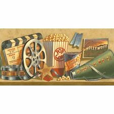 All About the Movie Sure Strip Wallpaper Border NV9727B