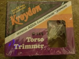 Kroydon official aqua-leisure exercise equipment G-115 torso trimmer 1978 sealed