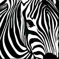 Zebra face Vinyl Decal/Sticker window laptop zoo animal striped print