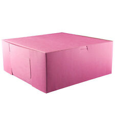 25 PINK Bakery Box 12x12x5 for Cake Pie Cupcake Cookie Candy Pastry Favor Gift