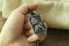 Valknut Odin wolf Celtic norse Pendant Necklace Viking wolf Talisman Jewelry