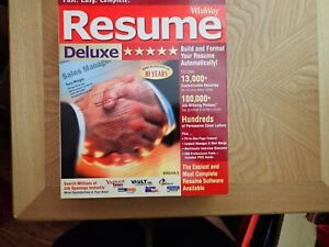 Winway Resume Deluxe Version 9 PC CD Windows 2000 XP Vista
