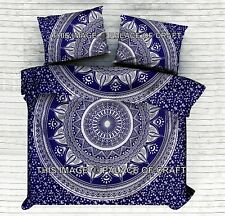 Indian Ombre Mandala Comforter Quilt Doona Set Bohemian King Duvet Cover Hippie