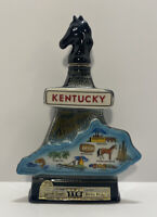 """Vintage Jim Beam State Of Kentucky Horse """"Blue Grass State""""1967 Decanter Empty"""
