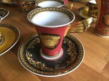 ROSENTHAL - VERSACE - Ikarus - Medusa, rot, Kaffeetasse mit Untere