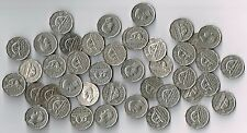 LOT OF 40 - ONE ROLL OF 1949 CANADA KING GEORGE VI 5 CENTS NICKELS