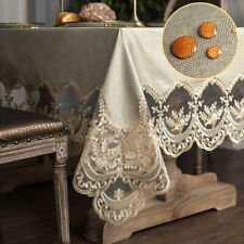 Waterproof Lace Vinyl PVC Tablecloth Rectangle Home Party Dining Table Cover New