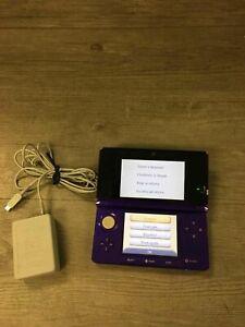 Nintendo 3DS Purple CTR-001 Handheld Bundle