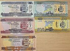 C) SOLOMON ISLANDS BANK NOTES SET 5 PCS UNC ND 1997 - 2010