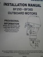 OEM 04 Honda Marine BF 25 D BF 30 D Outboard Motors Installation Manual