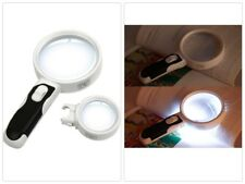 Magnifier Reading Magnifying Glass Loupe With LED Light Set 3 Lens 2.5X/5X/16X