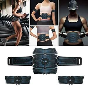 EMS Abdominal Muscle Toning Trainer ABS Stimulator Toner Fitness Gym Belt 8 Pads
