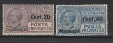 FRANCOBOLLI - 1925 REGNO POSTA PNEUMATICA C.20 SU 15+C.40 SU 30 MNH Z/8437