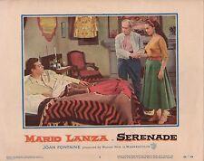 "Mario Lanza Joan Fontaine Serenade Original 11x14"" Lobby Card LC8"