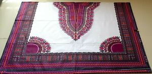 African Dashiki Angelina Fabric 100% Cotton Print Ankara Kitenge 2 Yards Panel