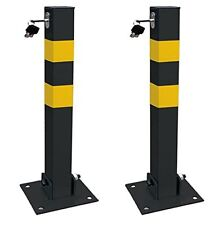 2 x Streetwize Security Theft Square Folding Parking Post with Keys Lock & Bolts