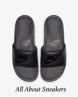 "Nike Benassi ""Black/Black/Bla"" Men's Slippers Flip Flops Limited Stock All Sizes"