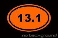 13.1 Half Marathon Sticker Vinyl Decal Oval - Running Run Race Jogging