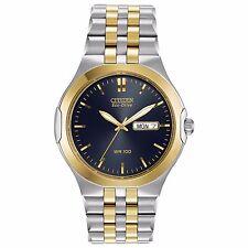 Citizen Eco-Drive Men's BM8404-59L Corso Two-Tone Blue Dial Bracelet 39mm Watch