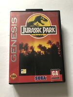 Jurassic Park Sega Genesis No Manual 1993 Cleaned & Tested