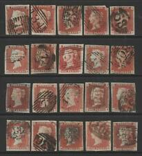 QV 1d Red Imperforate x 20. 1844 type cancellations.