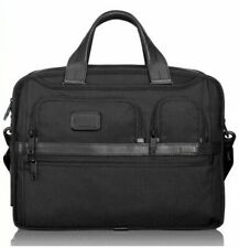 Tumi Alpha 2 Expandable Organizer Laptop Brief Black Ballistic Nylon NWT $455