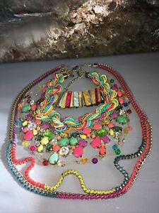 RAINBOW 🌈 OF COLORS ! BOLD STATEMENT JEWELRY LOT-CARA, KENNETH COLE, HANDMADE !