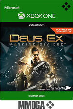 Xbox One - Deus Ex: Mankind Divided Key - Microsoft Version Download Code - EU