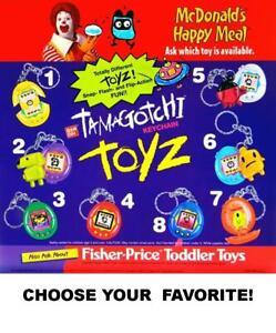 McDonald's 1998 Vintage/Retro Tamagotchi Keyring Toys-Pick Your Favorite!