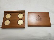 500 Quincentennial Caravel Gold Plated Bronze Medal 4 Coin Set