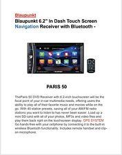 """BLAUPUNKT 2-DIN 6.2"""" TOUCHSCREEN DVD BLUETOOTH STEREO GPS NAVIGATION SYS"""