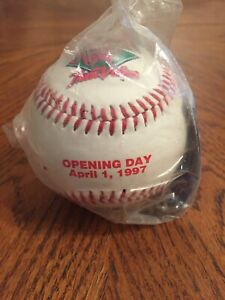 Vintage 1997 Cincinnati Reds Opening Day Baseball NEW