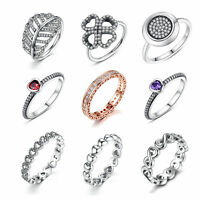 2018 Silver Finger Ring With My Princess,14k Gold Pave CZ 925 Silver For Women